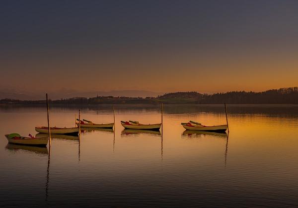 Pfaffikon-Lake-Pfäffikersee-Boats-Sunset - Landscape - Marko Klavs Photography