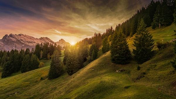 Mürren-Lauterbrunnen-Sunset-Swiss Alps - Landscape - Marko Klavs Photography