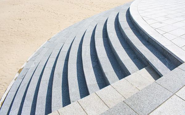 Curved Steps - Architecture - Nicola Lubbock Photography
