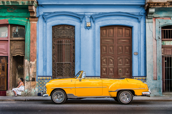 Cuba Yellow Car (new final) by Scott Kelby
