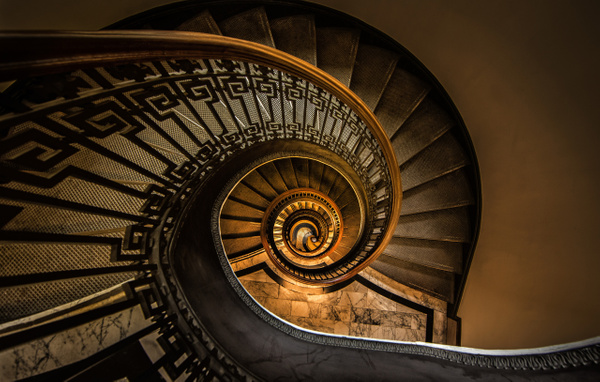 Mechanics Institute Spriral Staircase 2 - The Great Indoors - Scott Kelby