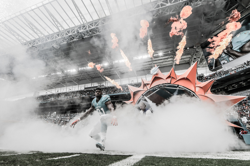 Dolphins player entrance 1