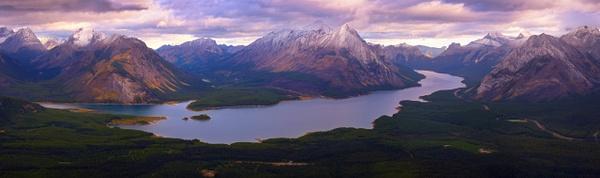 Panoramic View of Spray Lakes and Mount Shark, Kananaskis, Alberta, Canada. - Panoramic - Yves Gagnon Photography