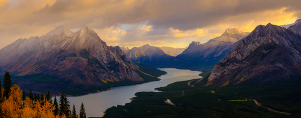Mount Shark and Spray Lake Reservoir - Canmore Alberta