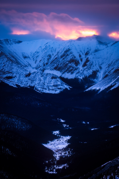 Sunset Prairie Mountain. by Yves Gagnon
