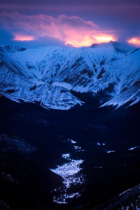 Sunset Prairie Mountain.