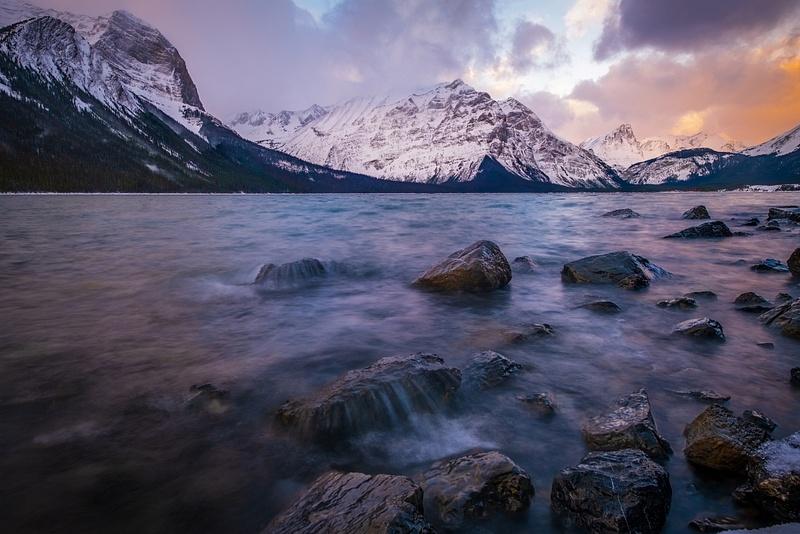 Upper Kananaskis Lake - Snowstorm - Peter Lougheed Provincial Park