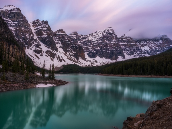 Sunset Moraine Lake, Lake Louise, Banff National Park - Small Group Landscape Photography Workshops of the Canadian Rockies