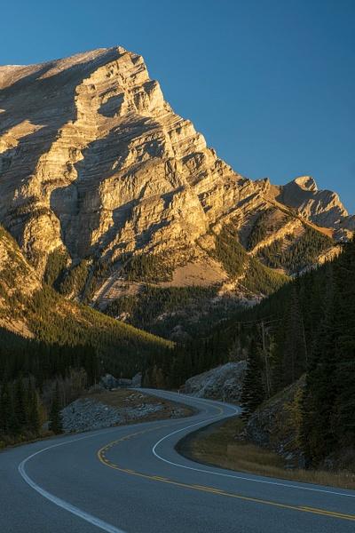 Road to the Canadian Rockies, Fall Season, Kananaskis,...