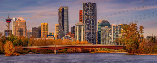 panoramic view of yyc fall 2019 - Outdoor Photography Workshop in Calgary   Yves Gagnon Photography
