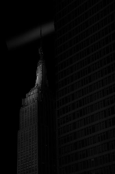 Empire State Building (US0478 ) - Black White -Bella Mondo Images