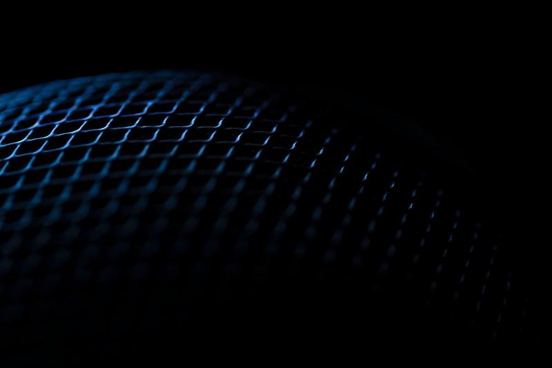 blue speaker abstract