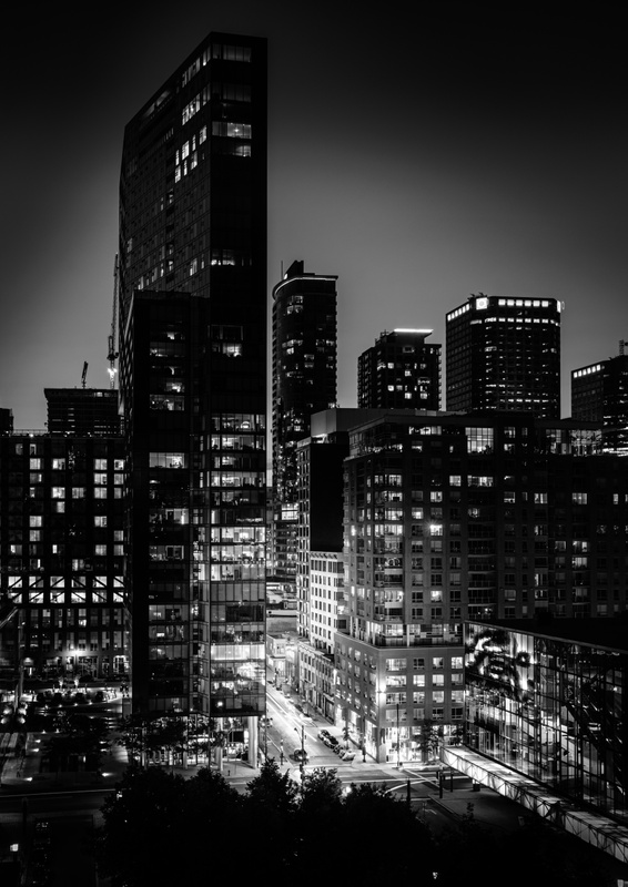 Montreal Skyscrapers at Night
