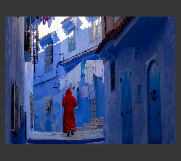 Blue City Morocco by Gino De  Grandis
