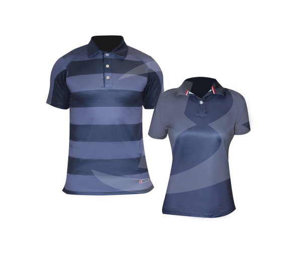 Men's and Women's Sublimated Polos
