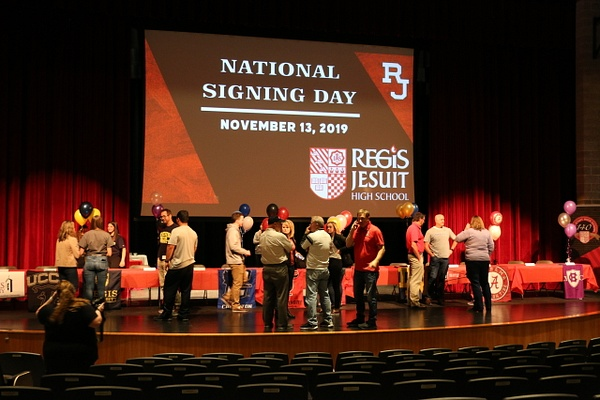 NLI Signing Day - November 2019 by Regis Jesuit High...
