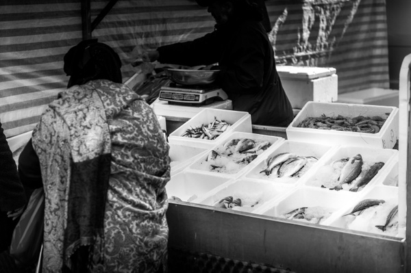 Fish Market - Black and White - MassimoUsai