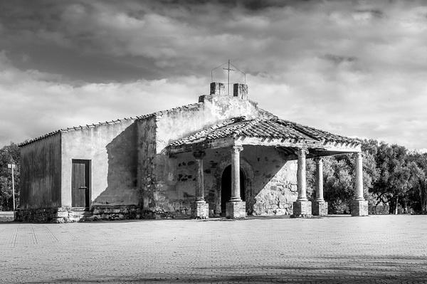 Campestre Church in Sardinia - Black and White - MassimoUsai