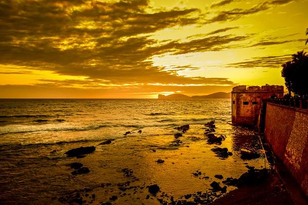 Sunset on the mediterranea Sea - Italy - MassimoUsai