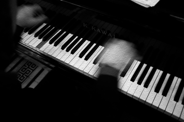 Piano Man - Oil Paint - MassimoUsai
