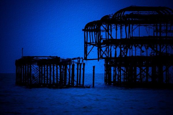Blue Brighton 3 - Oil Paint - MassimoUsai
