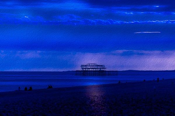 Blue Brighton 2 - Oil Paint - MassimoUsai