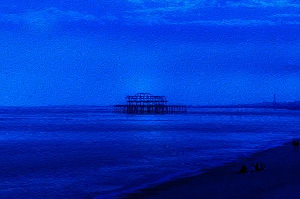 Blue Brighton - Oil Paint - MassimoUsai