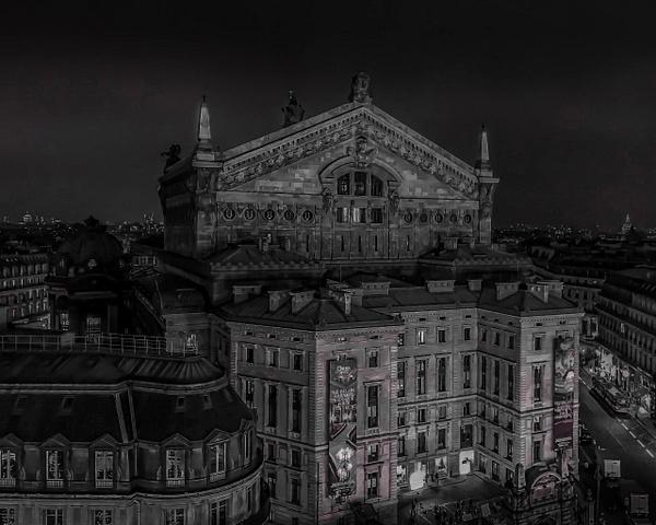 L'Opéra Garnier en noir et blanc - noir-et-blanc