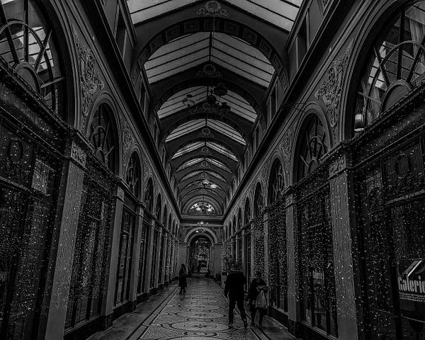 La Galerie Vivienne en noir et blanc - noir-et-blanc