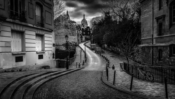 Montmartre en noir et blanc
