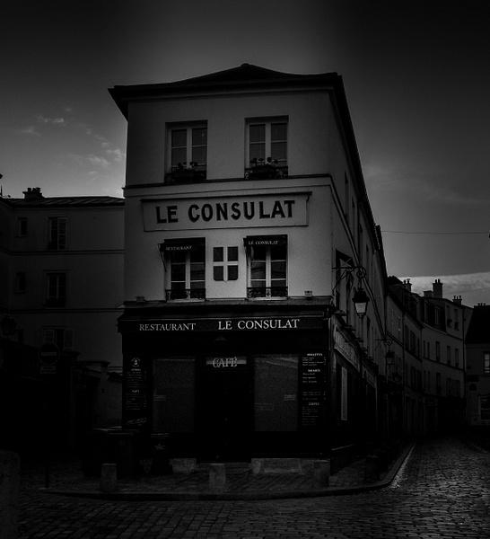 Rues de Montmartre en noir et blanc - noir-et-blanc