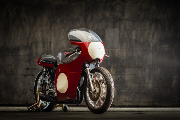 Triumph race bike by MattCrandall