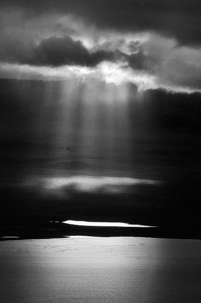 Crater Light BW - Landscape -  Steve Juba Photography