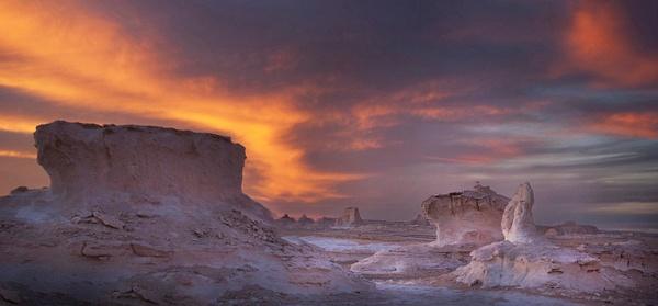 The White Desert Dusk Dodged More - Landscape -  Steve Juba Photography