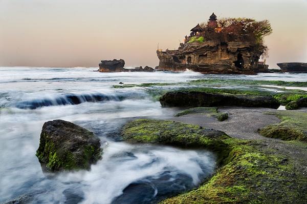 Tanah Lot Sunset Swirl - Landscape -  Steve Juba Photography