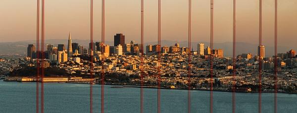 Sunset City Bridge Pan crop - Landscape -  Steve Juba Photography