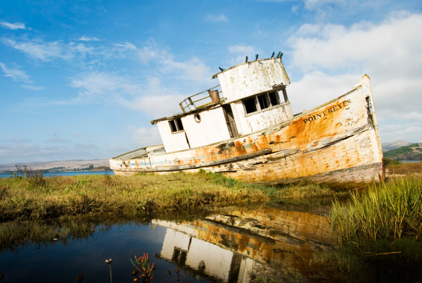 Point Reyes Boat edited - Landscape -  Steve Juba Photography