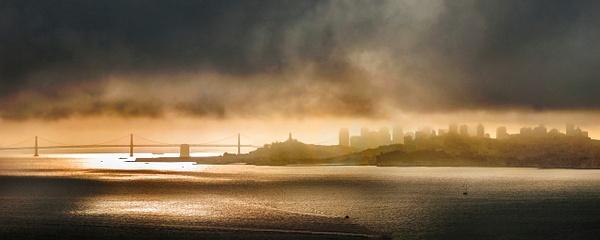 SF Scape sunrise pan crop - Landscape -  Steve Juba Photography