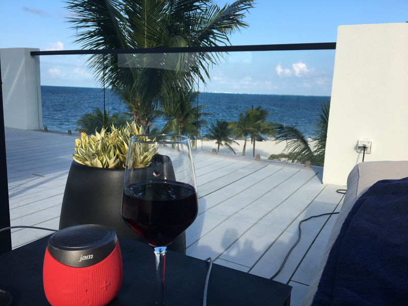 Afternoon wine on the terrace