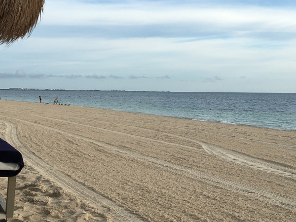 Another beautiful beach day in the early morning by...