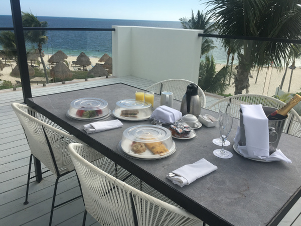 Breakfast on the terrace of the EC IMperial Suite by...