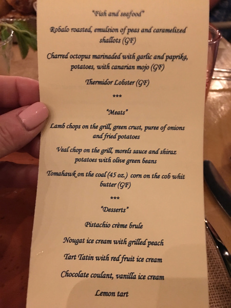 Menu at Private Dinner by Lovethesun