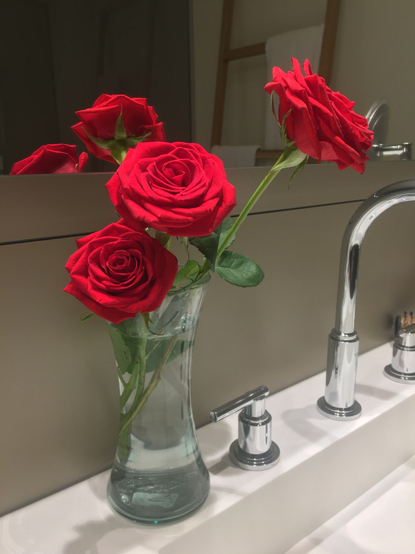 Roses left daily in room
