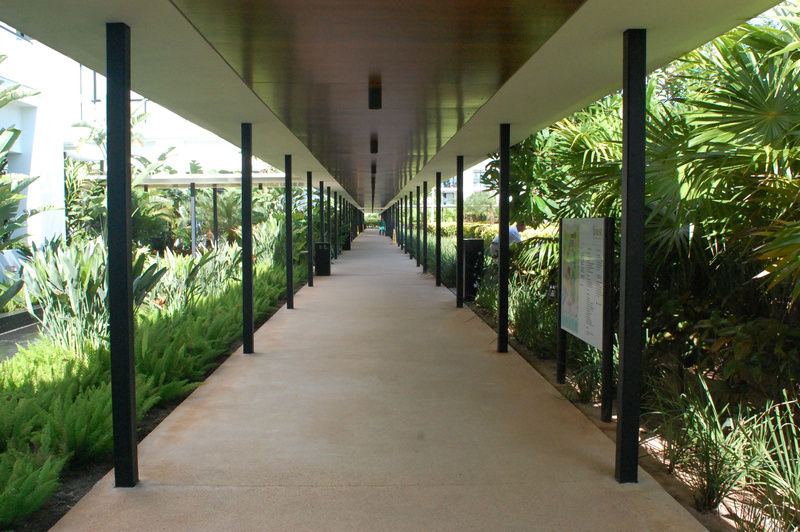 Covered walkway connecting EC to the rest of the resort