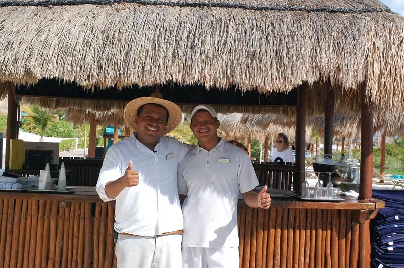 EC beach concierge and waiter