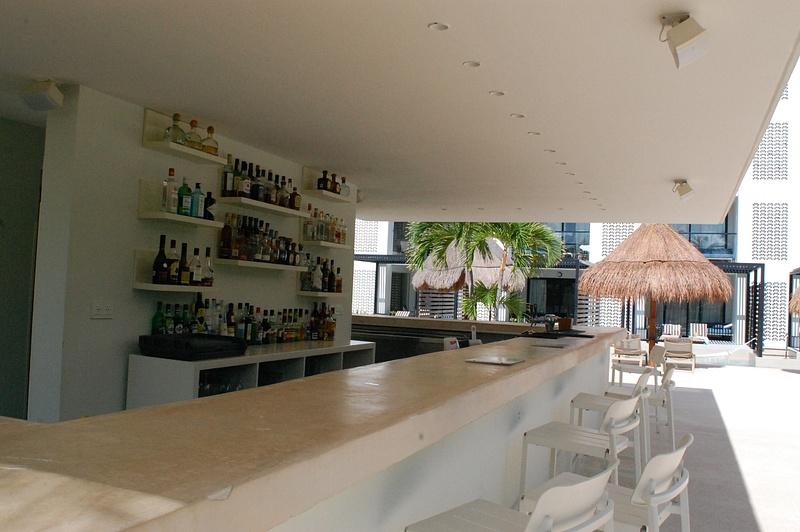 Seaside bar at building 6