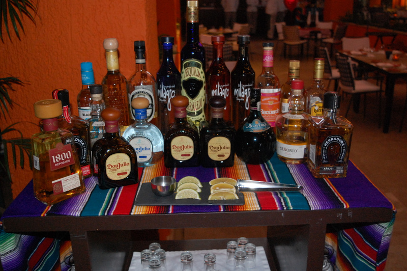 Tequila selection at Lizo Cocina Mexicana