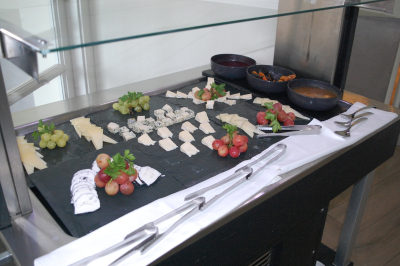 Cheese on offer at Le Petit