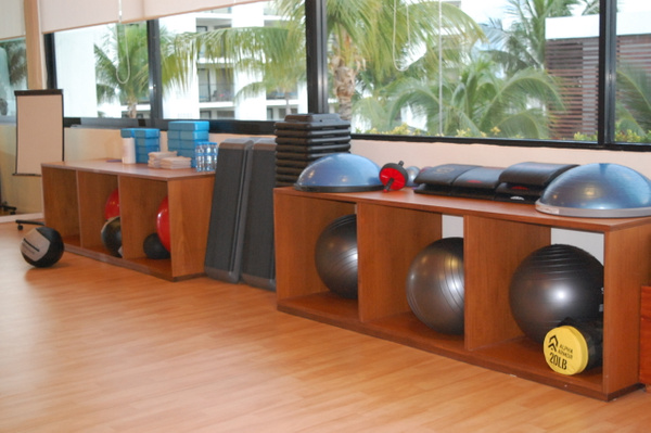 Group exercise room in the Fitness Center by Lovethesun