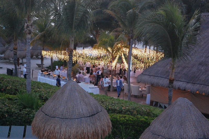 Private event at Las Dunas as seen from Sky Bar